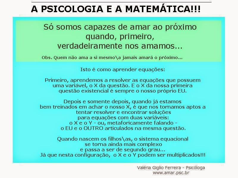 A Psicologia e a Matemática
