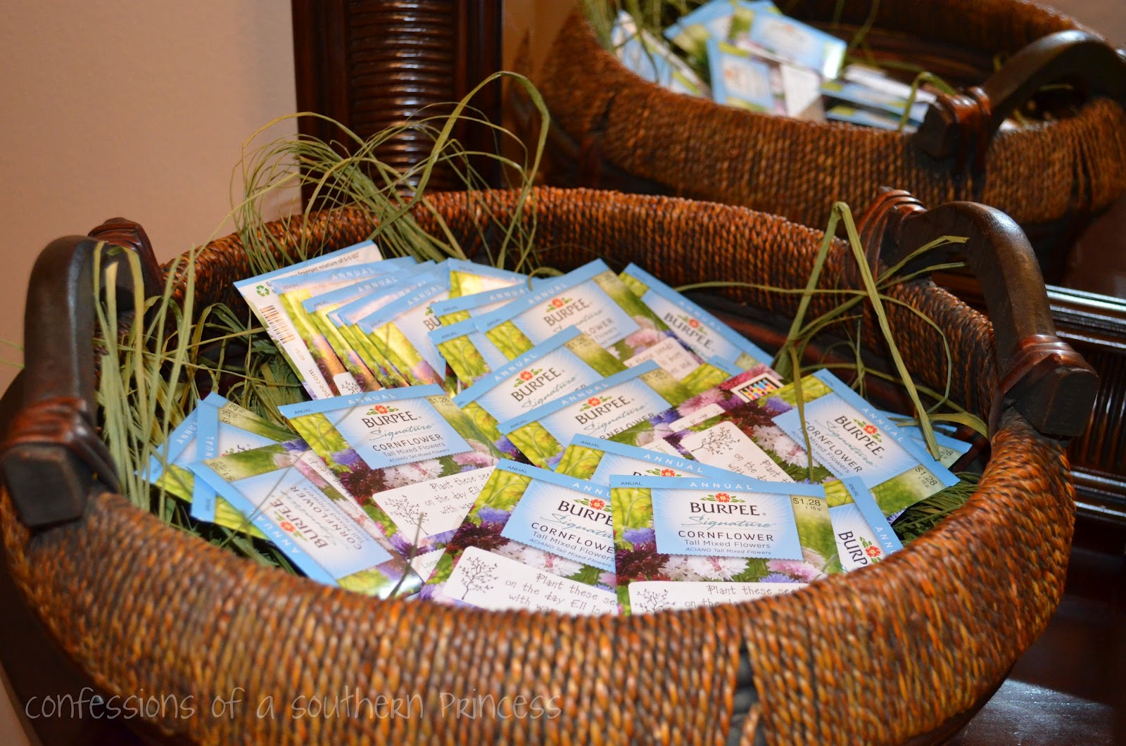 Party favors...seeds for the guests to plant.