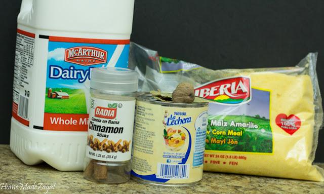 CornMeal Porridge: A Caribbean breakfast staple made from cornmeal, boiled in milk and spices. #HomeMadeZagat