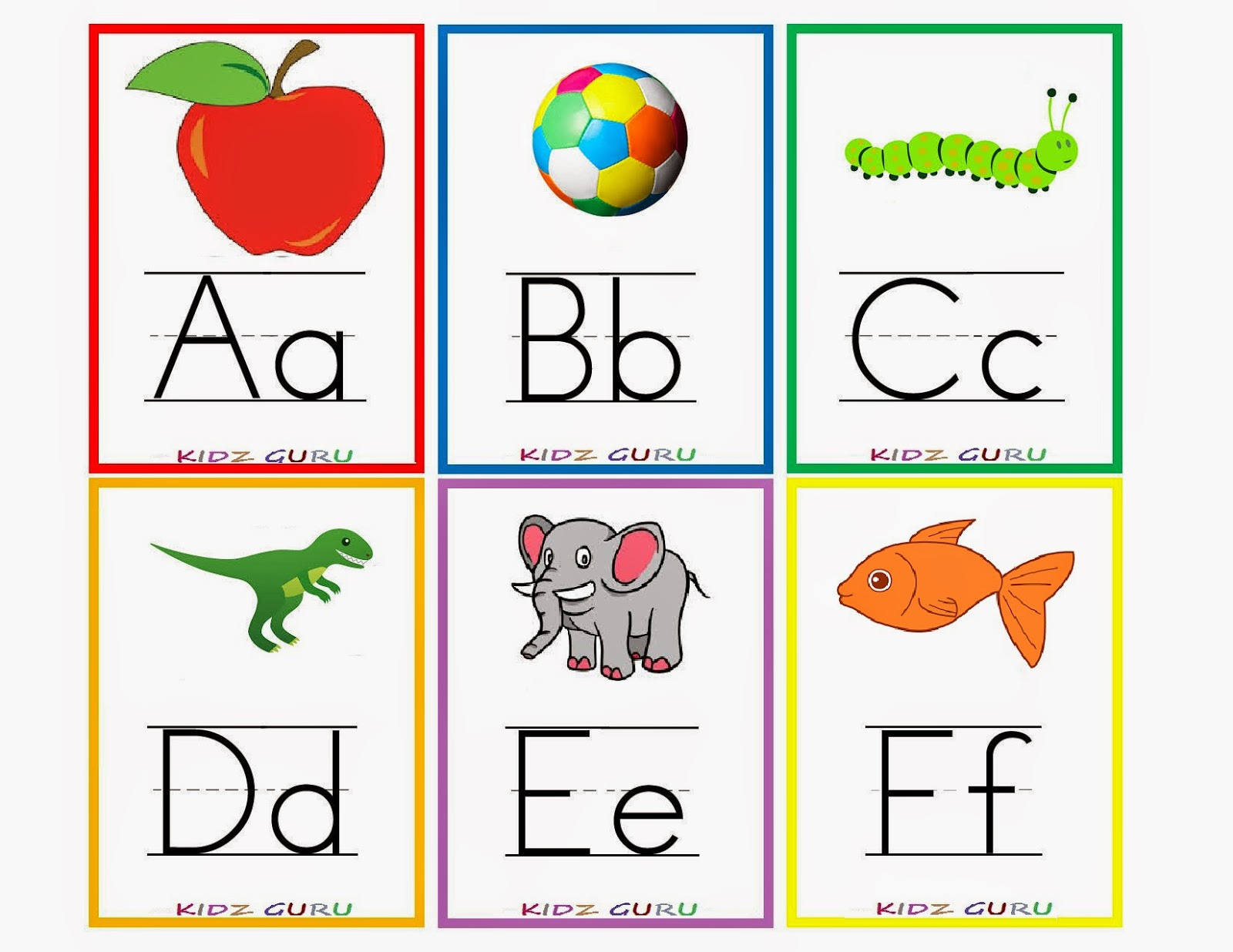 Decisive image in alphabet printable flash cards