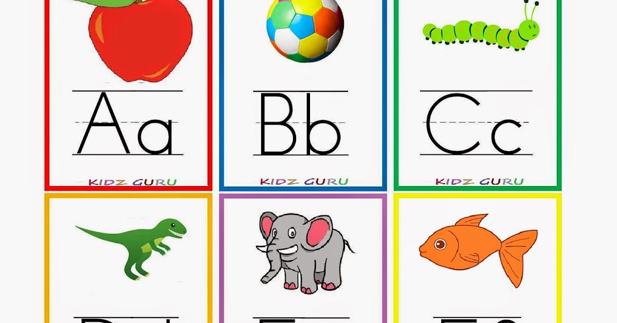 alphabet flash cards for preschoolers