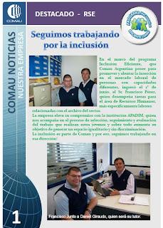 Imagen de revista de comunicación interna de COMAU