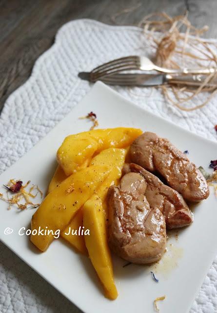 cooking julia foie gras po l aux mangues. Black Bedroom Furniture Sets. Home Design Ideas