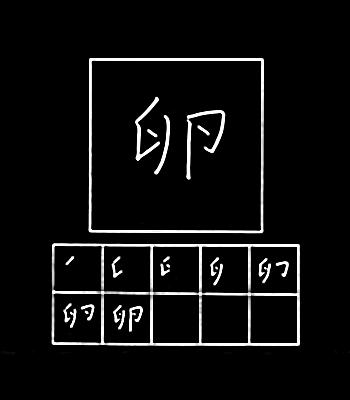 kanji telur