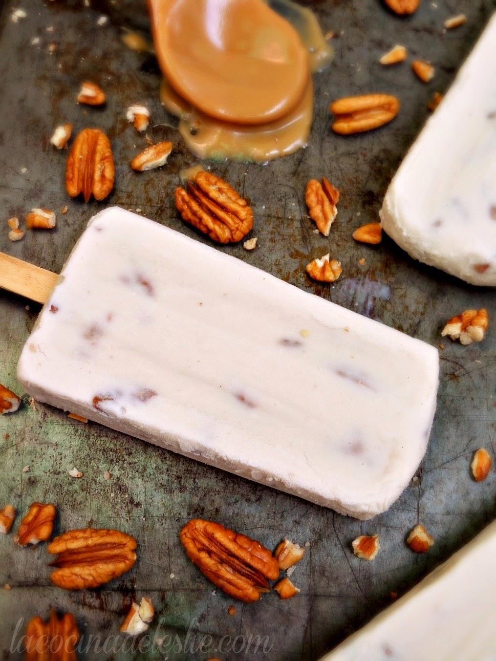Caramel Pecan Paletas - lacocinadeleslie.com