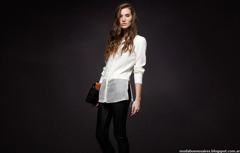 Camisas con transparencias moda invierno 2015 Giesso Mujer,