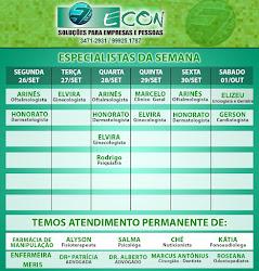 AGENDA ECON DE 26 DE SETEMBRO Á 01 DE OUTUBRO