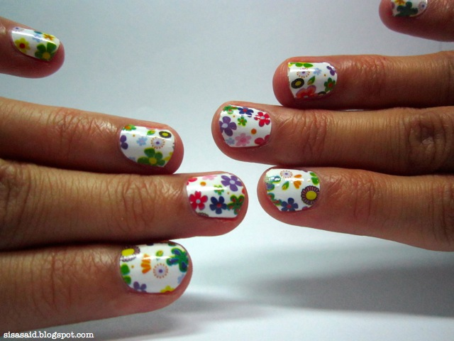 Ring my Bell, Isabel: DIY Nail stickers/Nail Patches Manicure