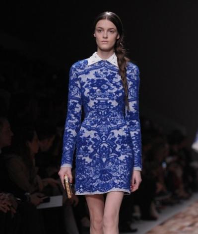 Платья валентино синее