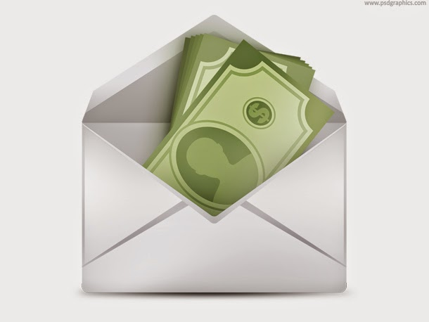 Money in Envelope PSD