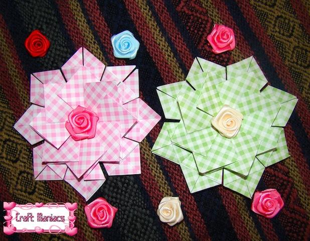 Craft Maniacs Tea Bag Folding 2 Medallion With Squares