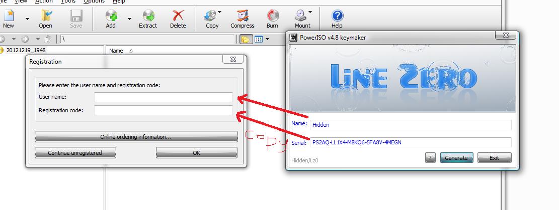 ... dari keygen ke user name dan serial dari keygen ke registration code