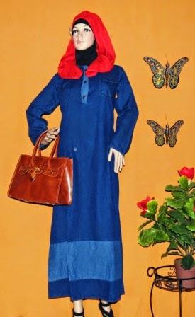 Gamis Jeans Gaul Gj1073 Grosir Baju Muslim Murah Tanah Abang