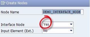 Interface node in Interface controller