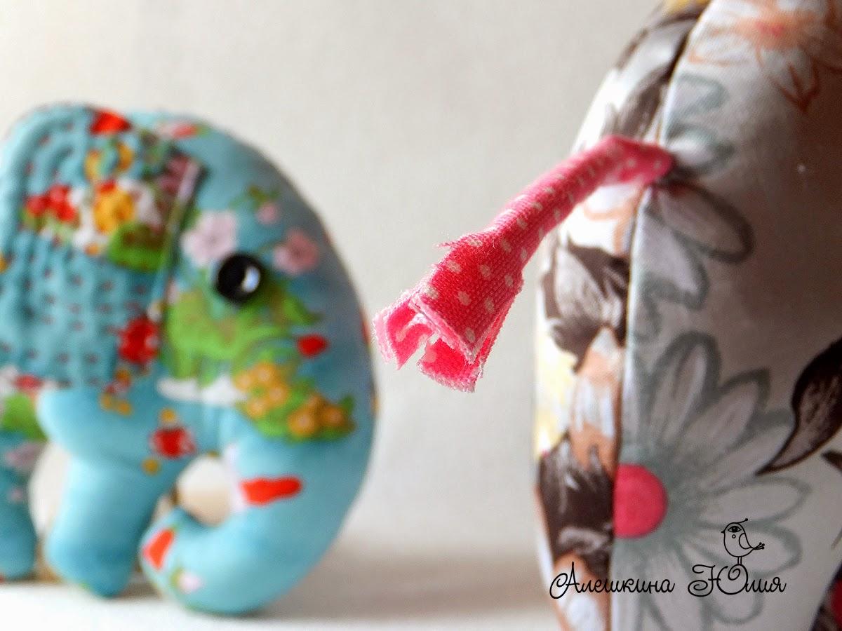 слон из ткани