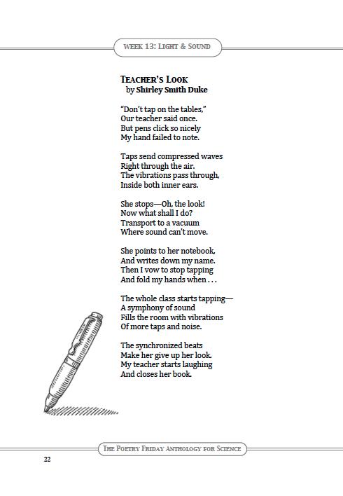 "Poetry for Children: PFAS: ""Teacher's Look"" by Shirley Smith Duke"