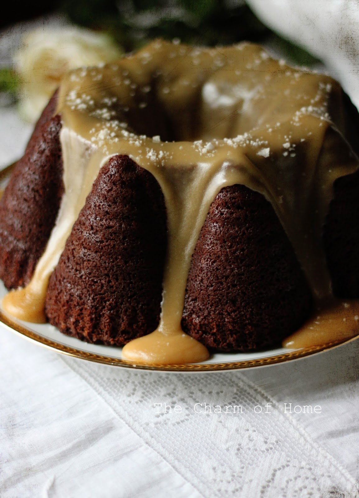 Guinness Chocolate Cake with a Salted Caramel Glaze