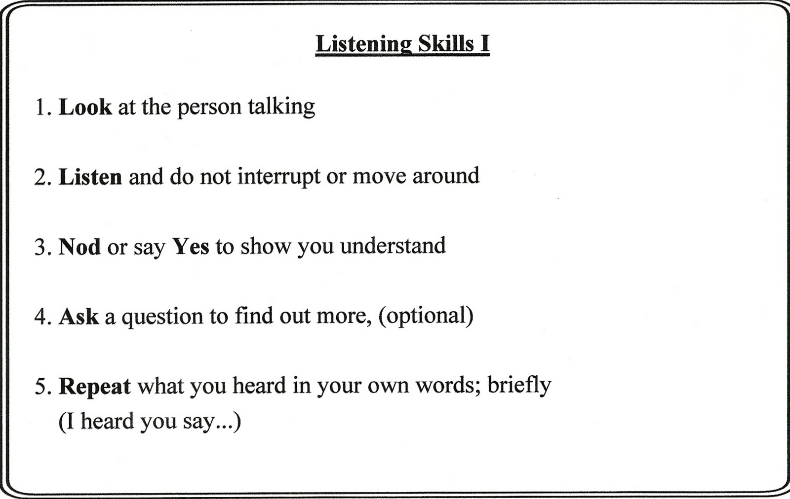 Listening Skills Worksheets – Listening Skills Worksheets