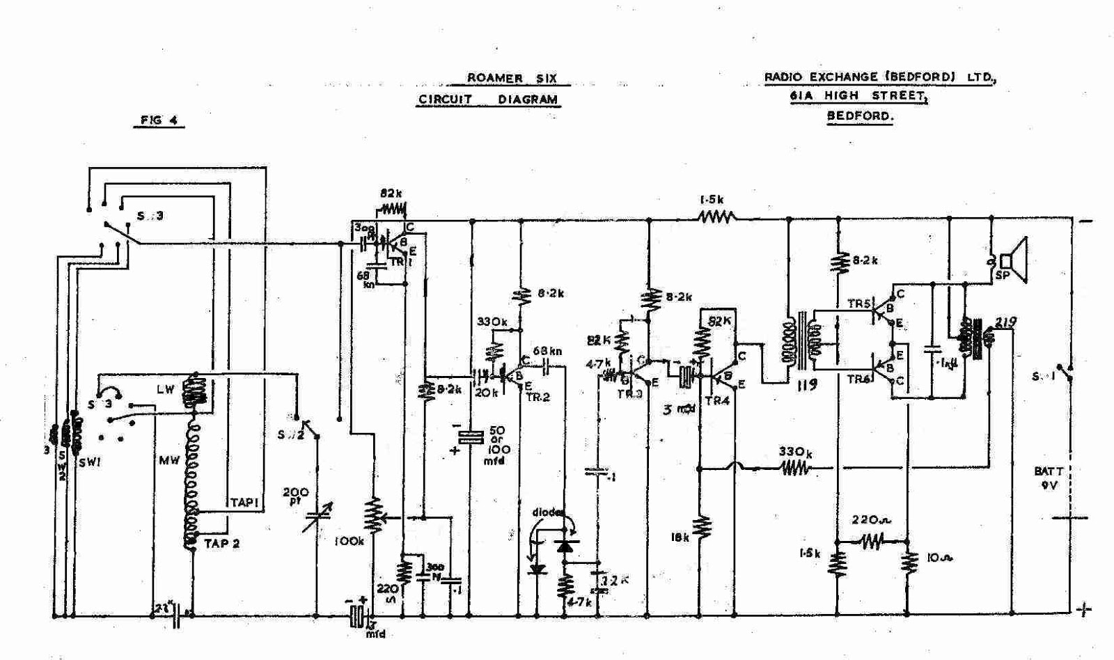6 Transistor Am Radio Schematic Detailed Diagrams F M Circuit Diagram Roamer 7 One Fm