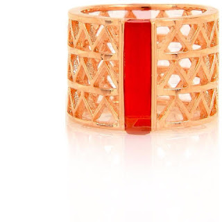 anel ouro com vermelho