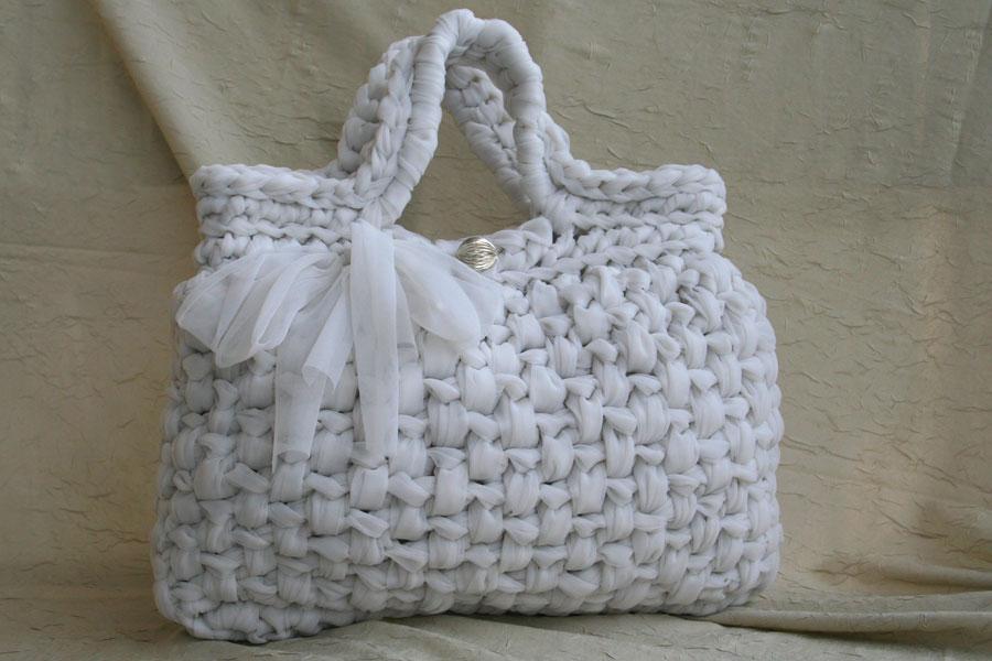 Borse Fatte A Mano Con Fettuccia Spiegazioni : Le borse di lul? borsa in fettuccia tulle color ghiaccio