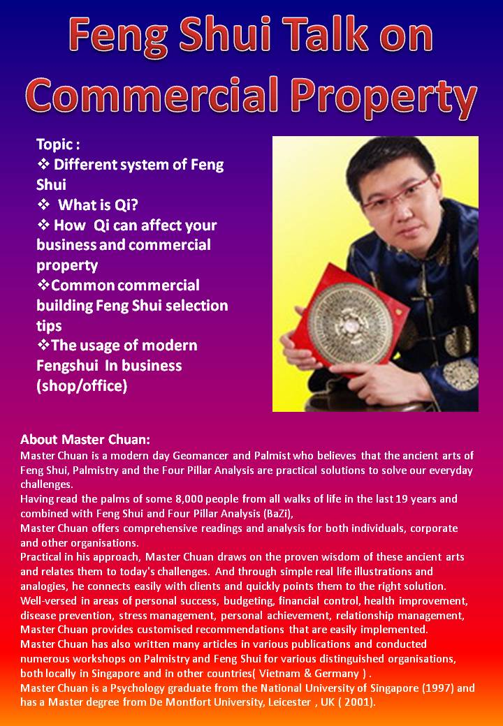 730pm to 930pm presentation at ardmore room 1st sty feng shui ardmore 3 fung shui good