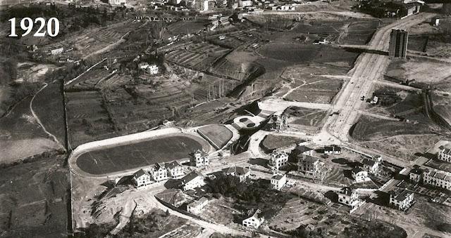 Antigüo estadio del Atlético de Madrid, Metropolitano, estaba situado al final de Reina Victoria, 1920