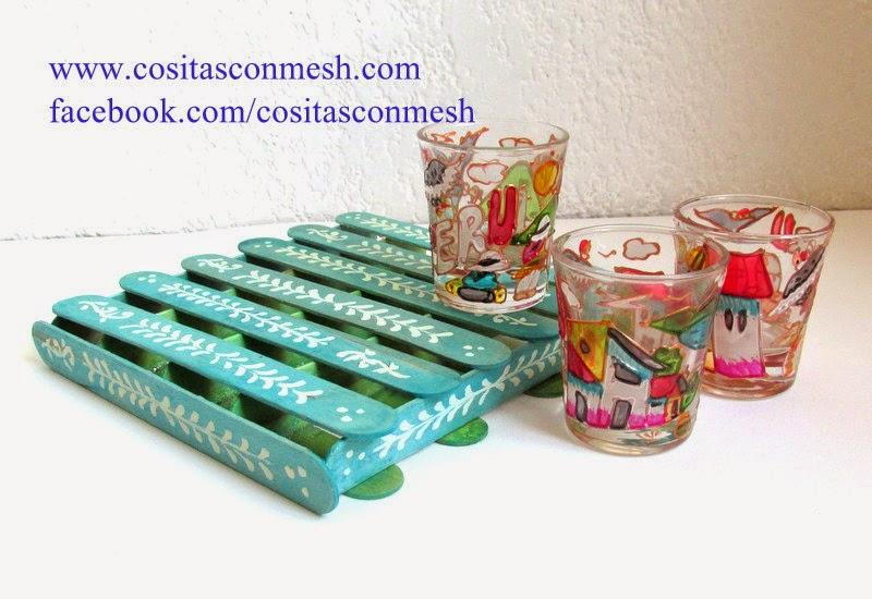 Manualidades bandejas con palitos paso a paso cositasconmesh for Manualidades con palets paso a paso