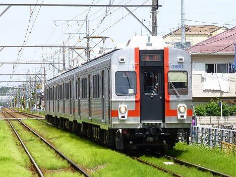 東京急行電鉄多摩川線 蒲田行き2 7600系7601F(歌舞伎塗装)