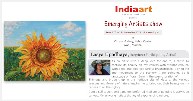 Artist Statement by Lasya Upadhyaya - part of Emerging Artists show by Indiaart.com