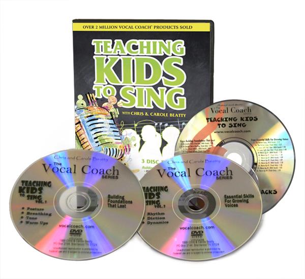 Teaching kids to sing dvd cd set