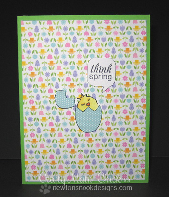 Spring Egg card by Crafty Math-Chick for Newton's Nook Designs - Easter Scramble Stamp set