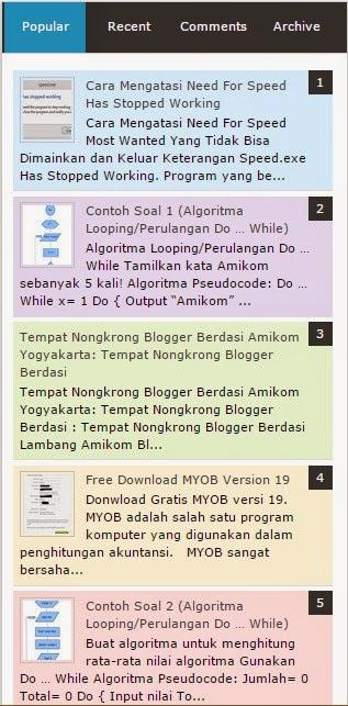 Tutorial membuat widget popular post yang keren di blogspot