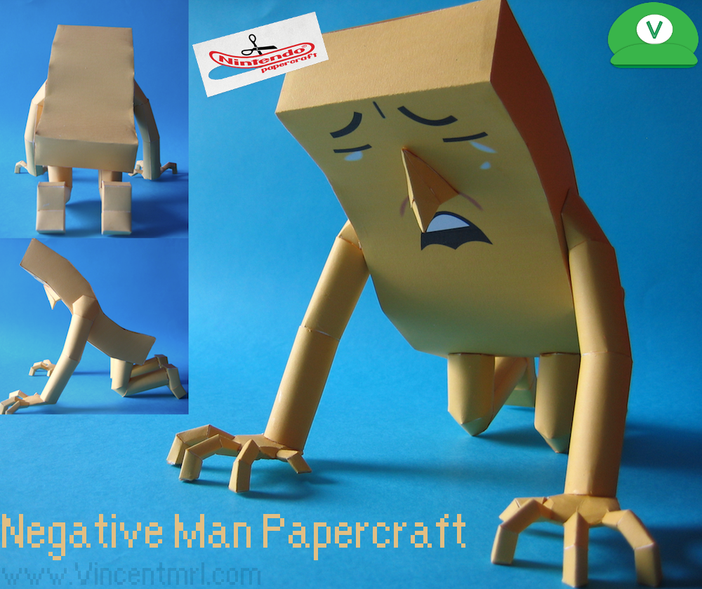 Negative Man Papercraft