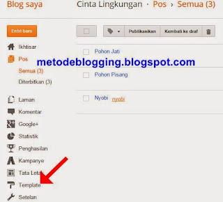 Dasbor Blogger