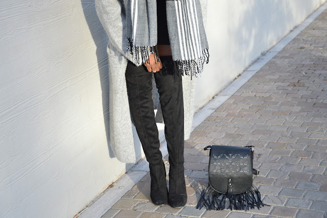 Blog mode afro, blog mode marseille, look, cuissardes, sac à main primark, gilet long
