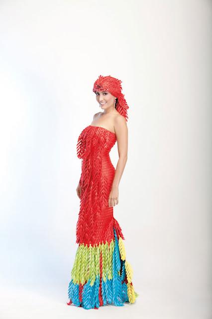 Srta. Colombia 2011-2012. Desfile en traje artesanal Bolívar: Rossana Fortich González