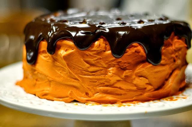 Torta Zucca e Cioccolato Fondente