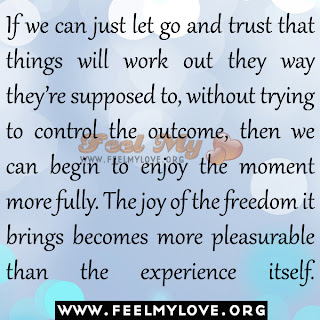 If we can just let go and trust that things will work out