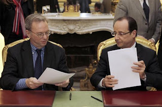 Accord Google - Hollande, janvier 2013