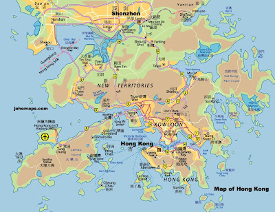 Map of Hong Kong Territory