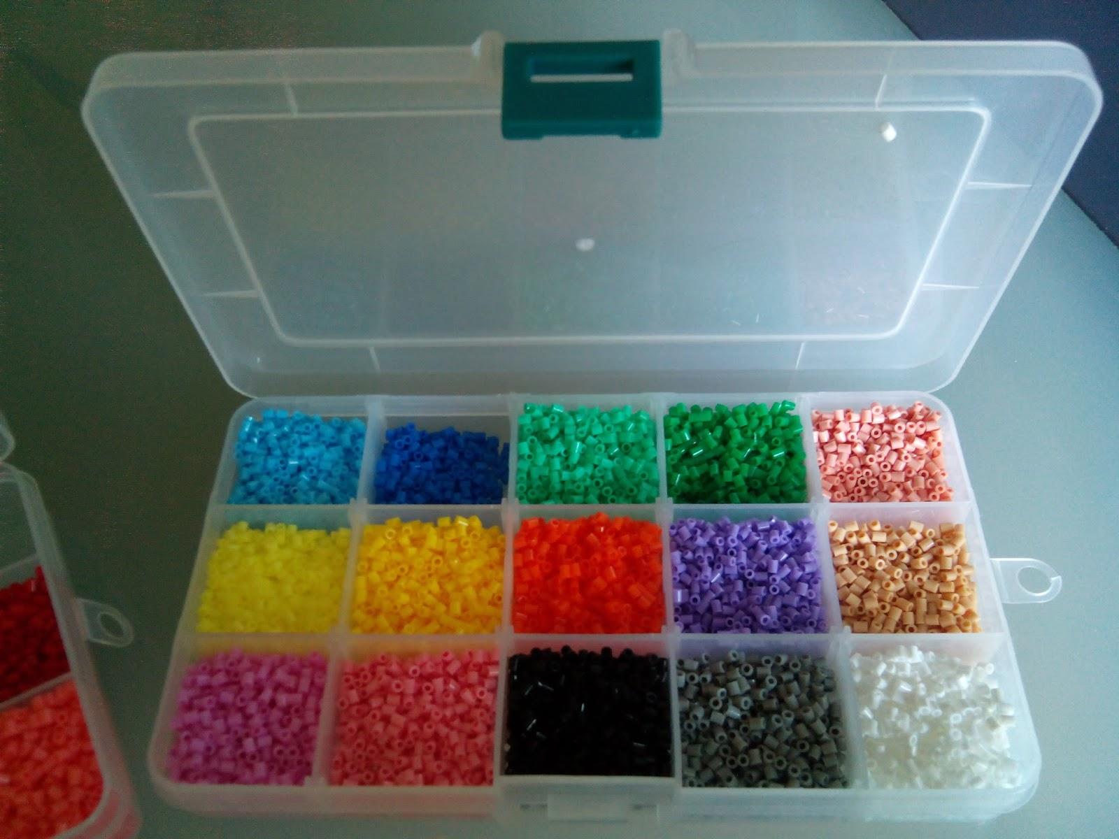 Caja con separadores para los Hama Beads