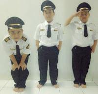 jual baju pilot anak