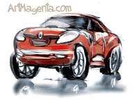 Car sketch by ArtMagenta
