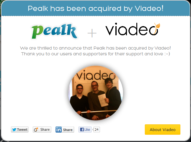Viadeo Acquires Pealk