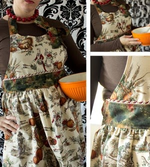 Thankful Apron Pattern vintage