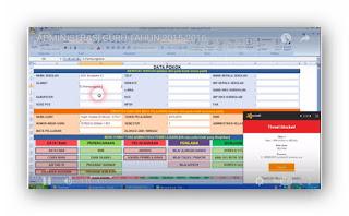 Aplikasi Administrasi Guru Lengkap dan Mudah Di Pelajari.Excel