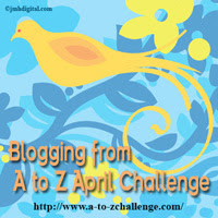 A to Z  April Blogging Challenge banner with bird