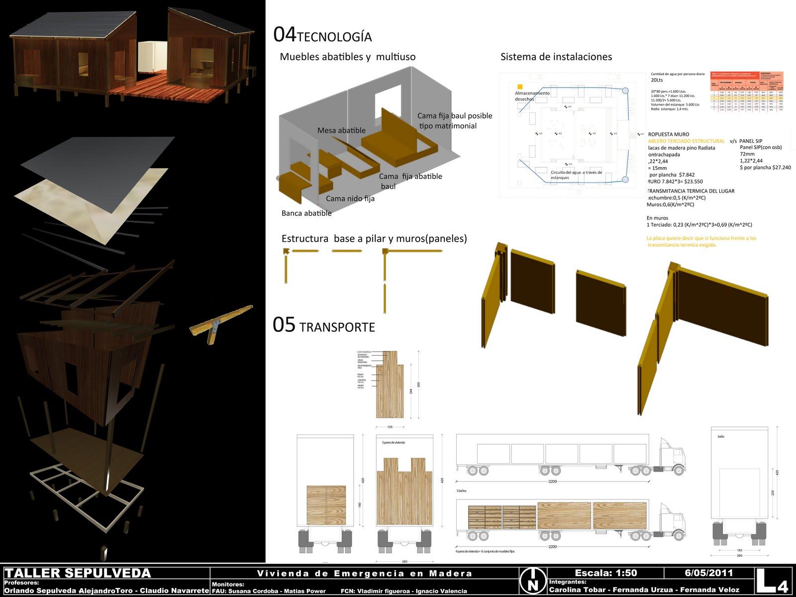 Portafolio arquitectura vivienda para la emergencia for Portafolio arquitectura