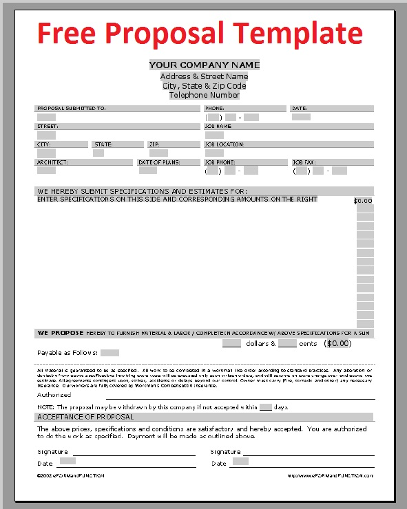 Sample Business Proposal Template  Free Sample Business Proposals